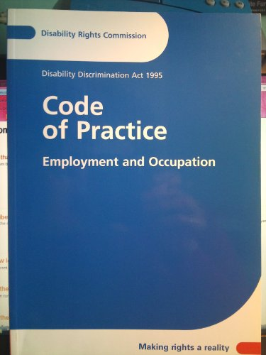 9780117034198: Code of Practice: Employment and Occupation