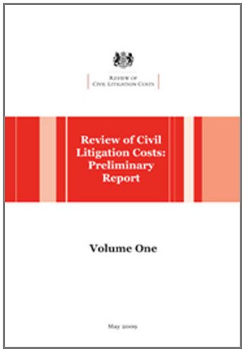 9780117064034: Review of Civil Litigation Costs: v. 1-2: Preliminary Report