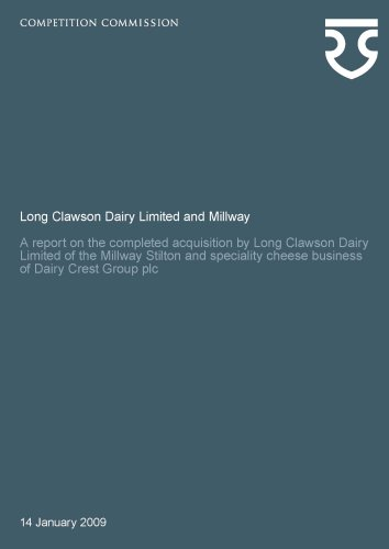 9780117067257: Long Clawson Dairy Limited and Millway: A Report on the Completed Acquisition by Long Clawson Dairy Limited of the Millway Stilton and Speciality ... Group Plc: Competition Commission Report