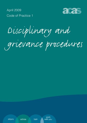 9780117067288: Disciplinary and Grievance Procedures, Code of Practice 1: 2009 Edition