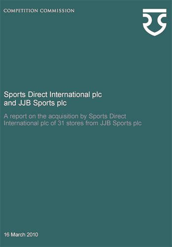 9780117068568: Sports Direct International Plc and Jjb Sports Plc: A Report on the Acquisition by Sports Direct International Plc of 31 Stores from Jjb Sports Plc: 47