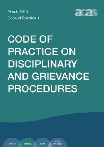 9780117082793: Disciplinary and Grievance Procedures 2015 (ACAS Code of Practice)