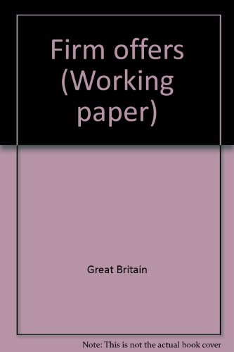 9780117300910: Firm offers (Working paper - Law Commission ; no. 60)