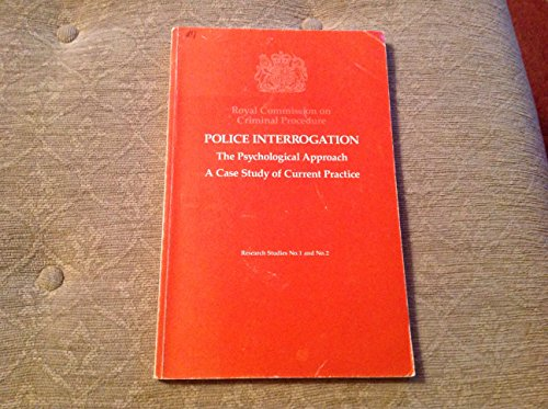 9780117301221: Police interrogation: The psychological approach (Research studies / Royal Commission on Criminal Procedure)