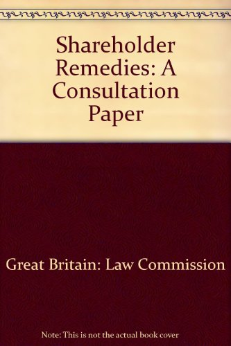 9780117302273: Shareholder Remedies: A Consultation Paper