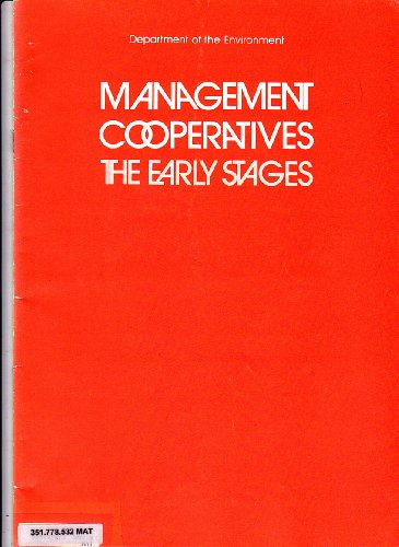 9780117500198: Management Cooperatives: The Early Stages