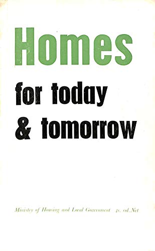 9780117501263: Homes for Today and Tomorrow