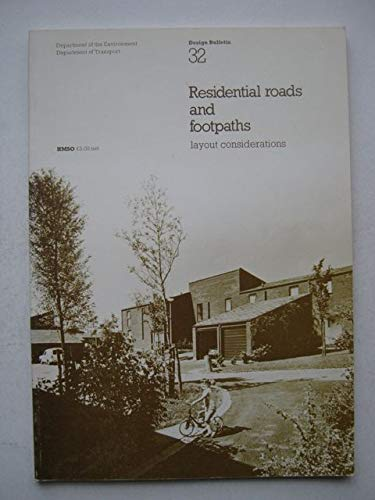 9780117502437: Residential Roads and Footpaths: Layout Considerations (Design Bulletin)