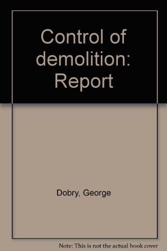 9780117508590: Control of demolition: Report