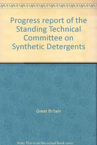9780117510050: Progress report of the Standing Technical Committee on Synthetic Detergents