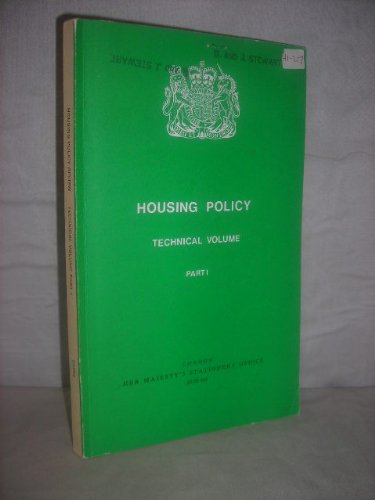 9780117512238: Housing Policy Technical Volume: Pt. 1