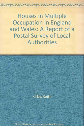 9780117518766: Houses in Multiple Occupation in England and Wales: A Report of a Postal Survey of Local Authorities