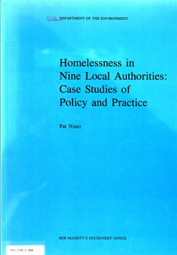 9780117521742: Homelessness in Nine Local Authorities: Case Studies of Policy and Practice
