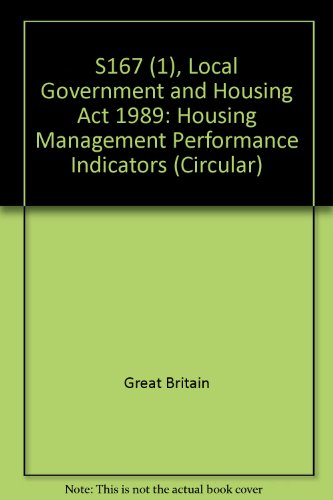 9780117523289: S167 (1), Local Government and Housing Act 1989: Housing Management Performance Indicators (Circular)
