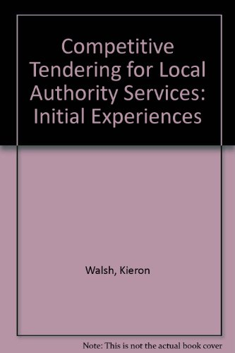 9780117523784: Competitive Tendering for Local Authority Services