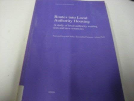 9780117529205: Routes into Local Authority Housing: A Study of Local Auth Waiting Lists & New