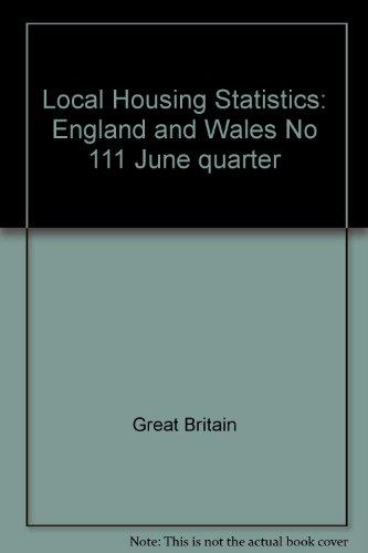 9780117530904: Local Housing Statistics, June 1994