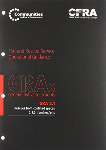 9780117540217: Rescues from confined spaces: 2.1.3 trenches/pits (Generic risk assessment)
