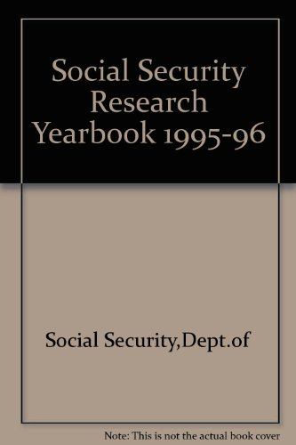 9780117624467: Social Security Research Yearbook 1995-96