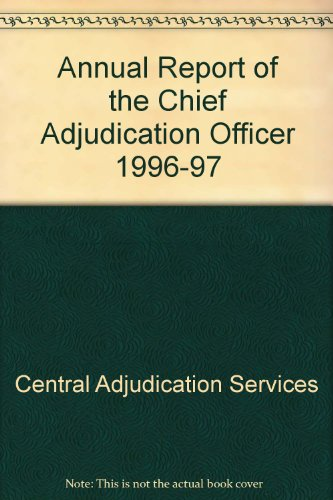 9780117625396: Annual Report of the Chief Adjudication Officer 1996-97