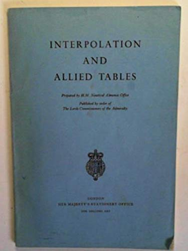 Interpolation and Allied Tables: Navy Dept.
