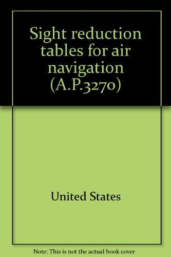 9780117721722: Sight reduction tables for air navigation