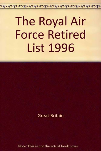Royal Air Force Retired List 1996