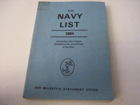 9780117725065: THE NAVY LIST 1984