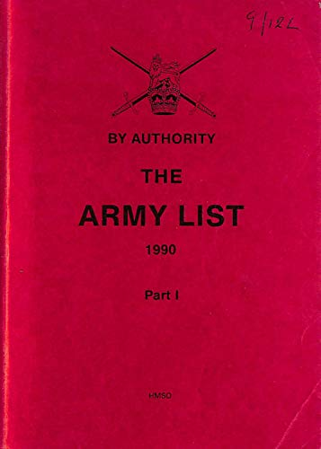 9780117726772: The Army List 1990