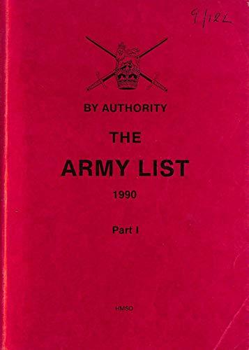 9780117726772: The Army List 1990