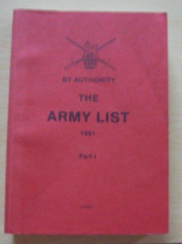 9780117727069: Army List, Part I 1991 Part 1