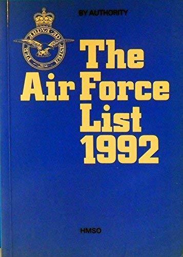9780117727090: Air Force List, 1992