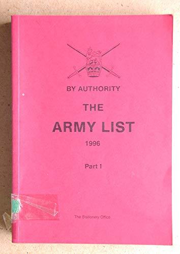 9780117728462: The Army List 1996