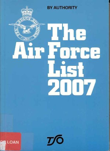 9780117730533: The Air Force list 2007