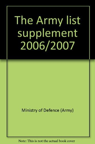 9780117730687: The Army list supplement 2006/2007