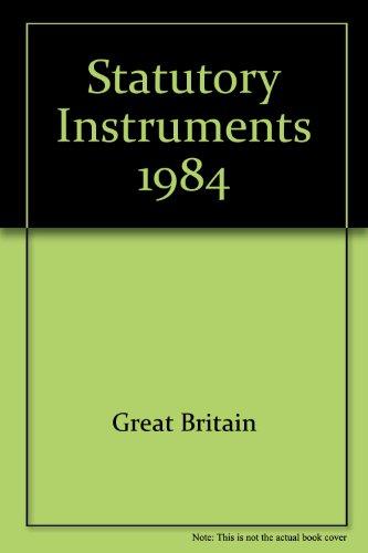 9780118402408: Statutory Instruments 1984