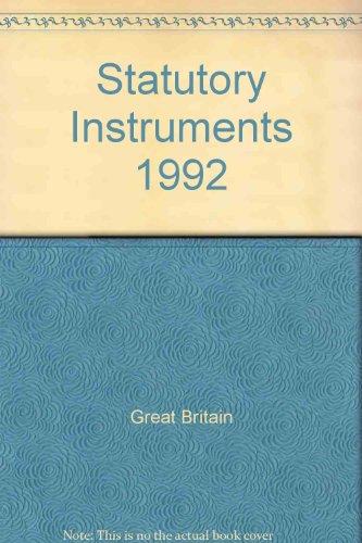 9780118403344: Statutory Instruments 1992