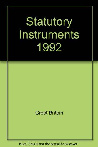 9780118403368: Statutory Instruments 1992