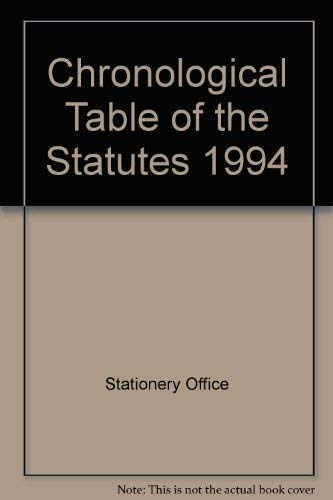 9780118403641: Chronological Table of the Statutes 1994