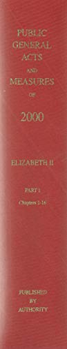 9780118403863: The Public General Acts and General Synod Measures 2000