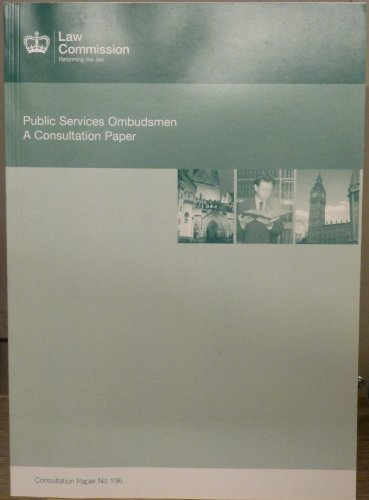 Public Services Ombudsman: a consultation paper: Great Britain: Law Commission