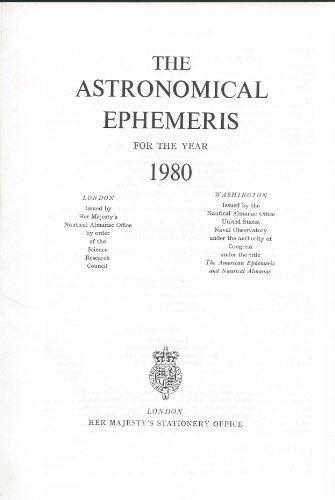 9780118807753: Astronomical Ephemeris 1980