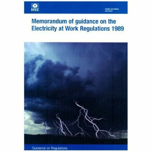 9780118839631: Memorandum of Guidance on the Electricity at Work Regulations 1989 (Health & Safety: Regulations Booklets)