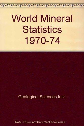 9780118840385: World Mineral Statistics