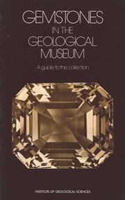 9780118842013: Gemstones in the Geological Museum: A Guide to the Collection