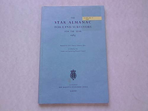 9780118869157: Star Almanac for Land Surveyors 1985