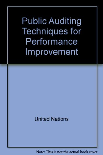 9780119063578: Public Auditing Techniques for Performance Improvement