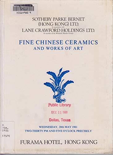 9780119832082: Modern and Contemporary Chinese Paintings, Hong Kong, Nov. 22, 1981