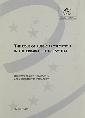 9780119868944: The Role of Public Prosecution in the Criminal Justice System: Recommendation and Explanatory Memorandum