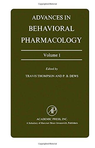 9780120047017: Advances in Behavioural Pharmacology: v. 1